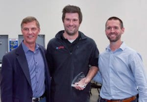 EPIC Way award winner Tim Schelp pictured with Owner John Schott and Director of Engineering Ken Sipes