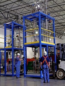 Distillation System in EPIC's Fabrication Plant
