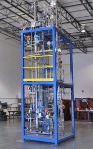 Ethanol extraction procedure performed on a skid