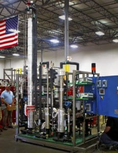 A pilot scale distillation system with multiple unit ops is fabricated in EPIC's shop