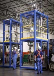 Two EPIC craftsmen oversee construction of two ethanol distillation skids
