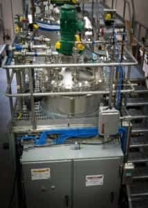 A process systems skid sits ready for FAT