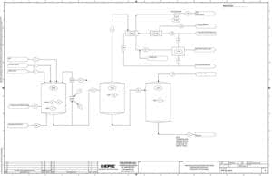 A process flow diagram (PFD) created at a process engineering firm