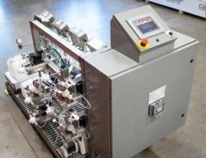 An overview photo showing the EPIC rental inline blending skid