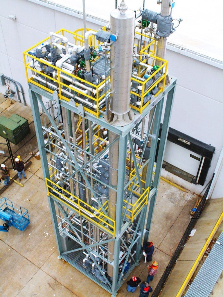Distillation Tower for Alternative Energy