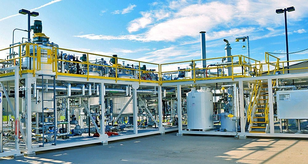 Two Phase Batch to Distillation Demonstration Plants