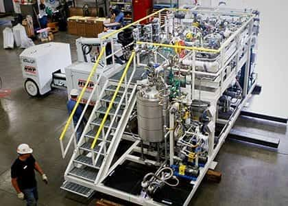 batch reactor system for chemical pilot plant