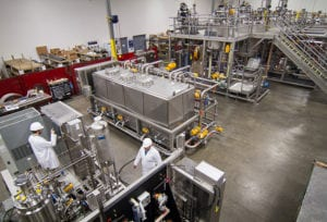 A photo of a fragrance mixing pilot plant