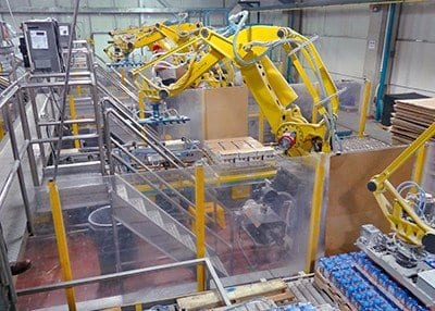Robotic Process Automation System in Food Plant
