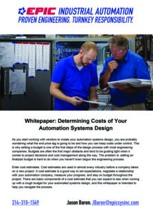 A PDF Whitepaper Detailing Automation Design Cost Estimating Methods