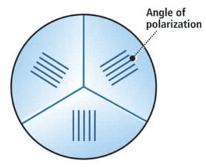 the vision integrator fit Three pie-shaped polarizers were fit into a fiber-optic end effector on this vision inspection system to eliminate glare