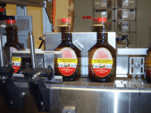 high-speed syrup bottle inspection system