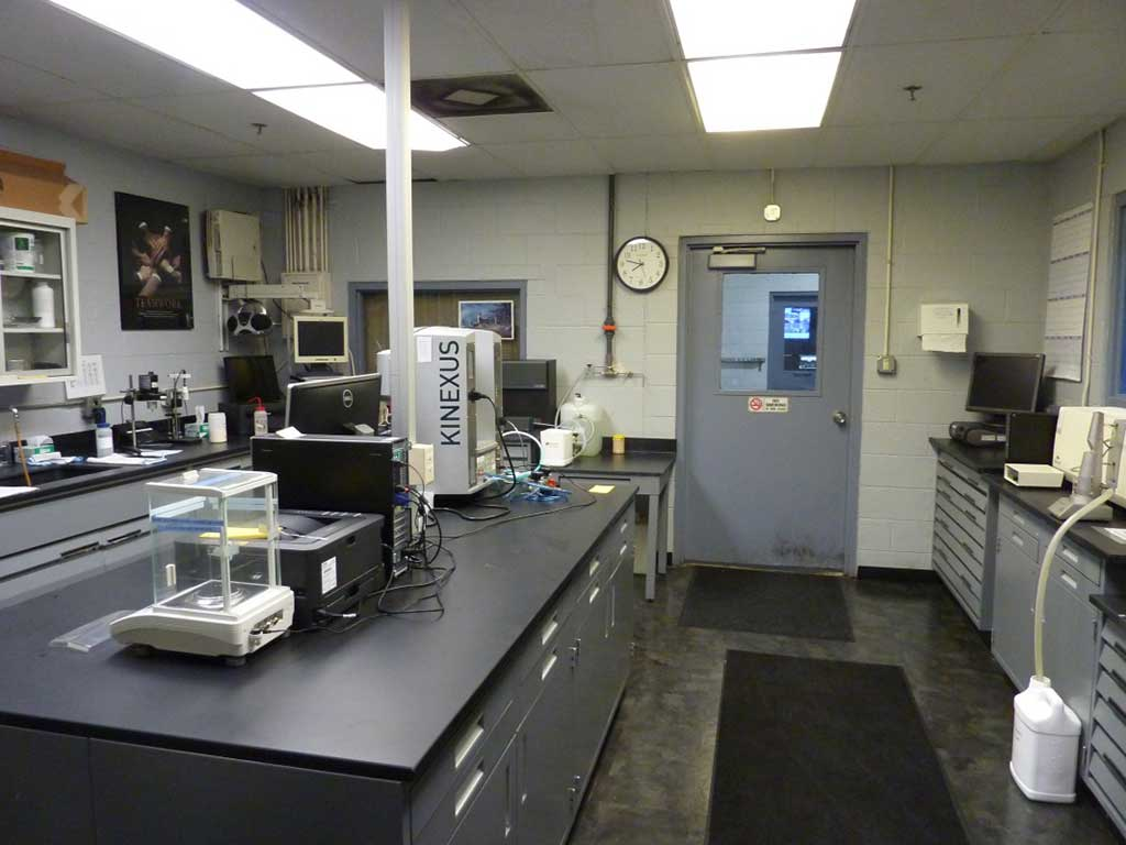 Opposing view of the formulation lab