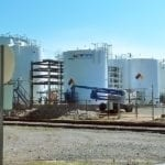 View of Agraforms chemical storage area