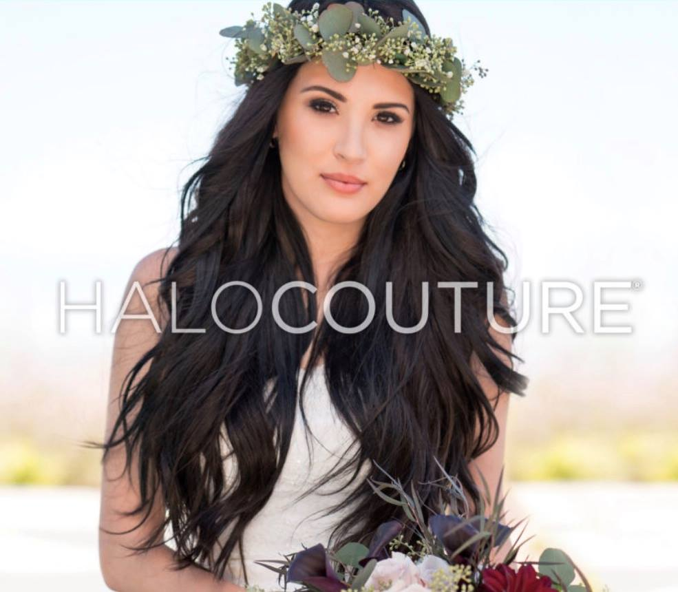 halocouture brunette hair extensions